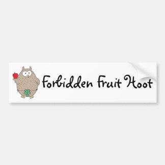 Forbidden Fruit Hoot Bumper Stickers