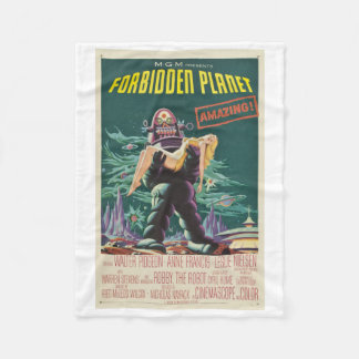 Forbidden Planet Monster Movie Blanket