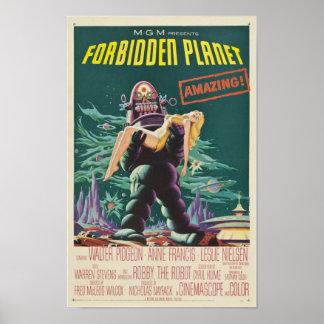 Forbidden Planet Monster Movie Poster