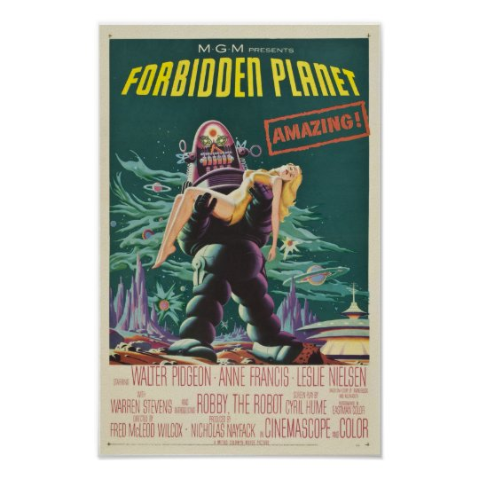 Forbidden Planet Monster Movie Poster