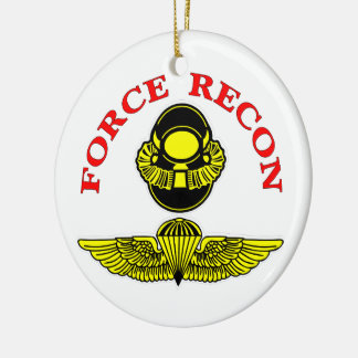 Force Recon Bubblehead Jumpwings Christmas Ornament