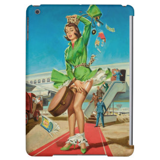 Forced landing retro pinup girl