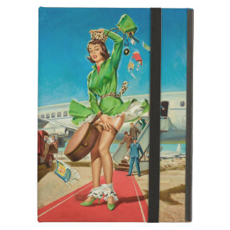 Forced landing retro pinup girl iPad air covers