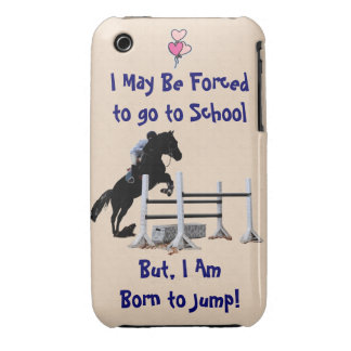 Forced to go to School, Born to Jump Horse Case-Mate iPhone 3 Case