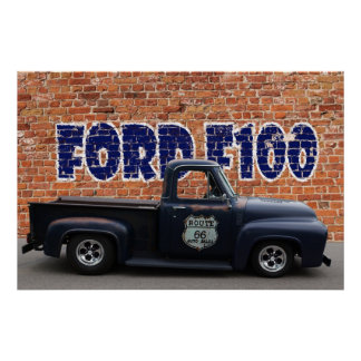 Ford F100 Pickup Poster