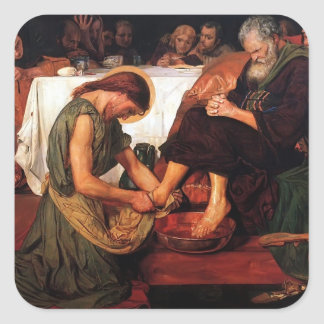 Ford Madox Brown- Jesus Washing Peter's Feet Stickers