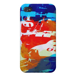 Ford Mustang and Camaro racing iPhone 4 Covers
