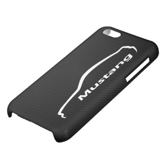 Ford Mustang GT Coupe White Silhouette Logo iPhone 5C Cases