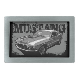 Ford Mustang monocrome Belt Buckle