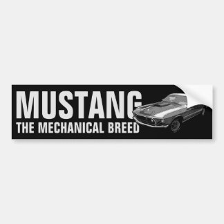 Ford Mustang monocrome Bumper Sticker