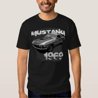 Ford Mustang monocrome T Shirts