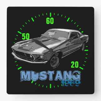 Ford Mustang monocrome Wallclock