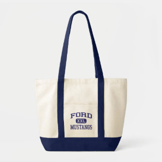 Ford Mustangs Ford Middle School Allen Texas Tote Bags