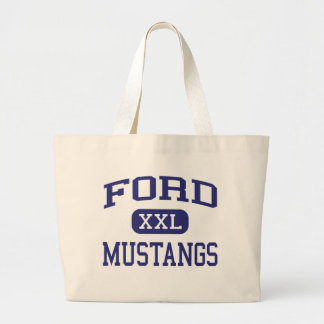 Ford Mustangs Ford Middle School Allen Texas Jumbo Tote Bag