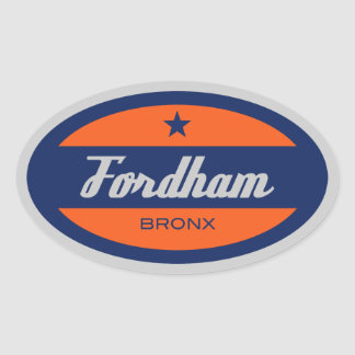 Fordham Oval Sticker