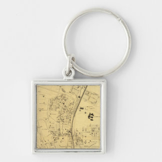 Fordham Silver-Colored Square Key Ring