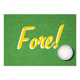 Fore - 40th Golf Birthday Party Announcement