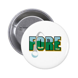 Fore - Golf 6 Cm Round Badge