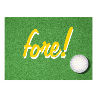 Fore Golf Birthday Party Announcements