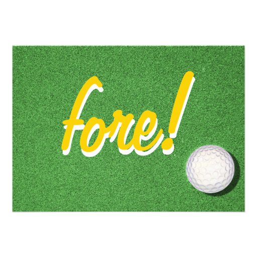 Fore Golf Birthday Party Invitations
