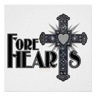 FORE HEARTS Canvas Poster