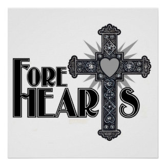 FORE HEARTS Wall Poster