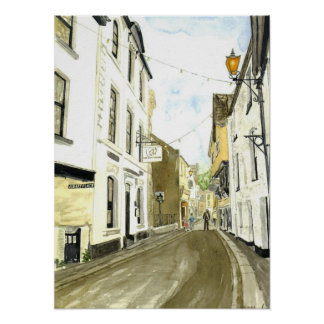 'Fore Street, Fowey' Poster