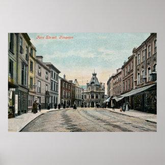 Fore Street Tiverton Devon 1890s Poster