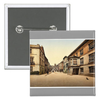 Fore Street, Totnes, England classic Photochrom Pinback Button