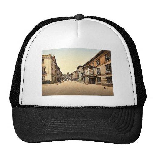 Fore Street, Totnes, England classic Photochrom Mesh Hats