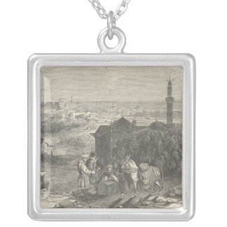 Foreign Corn Ports, Alexandria Silver Plated Necklace