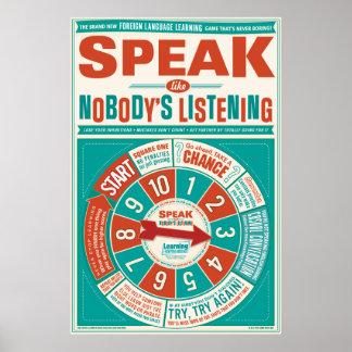 Foreign Language classroom poster (Speak like…)