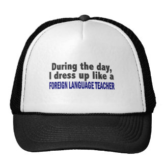 Foreign Language Teacher During The Day Hats
