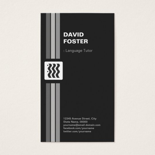 Foreign Language Tutor - Premium Double Sided Business
