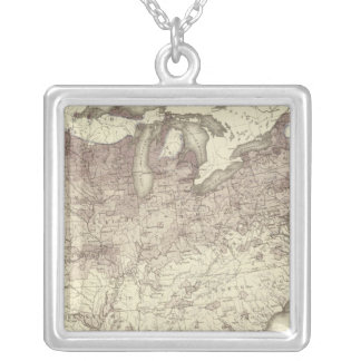 Foreign Population Proportion 1870 Silver Plated Necklace