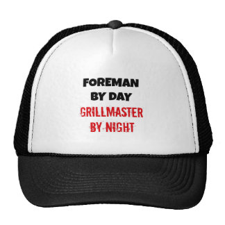 Foreman by Day Grillmaster by Night Hats