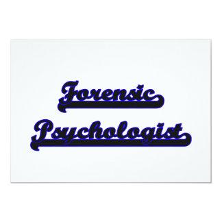 Forensic Psychologist Classic Job Design 5x7 Paper Invitation Card
