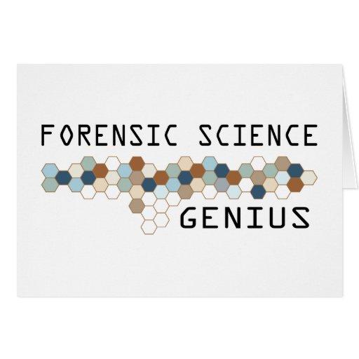 Forensic Science Genius Card