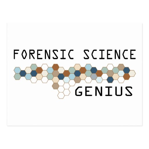 Forensic Science Genius Postcard
