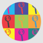 Forensic Science Pop Art Round Sticker