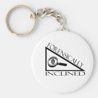 Forensically Inclined Basic Round Button Key Ring