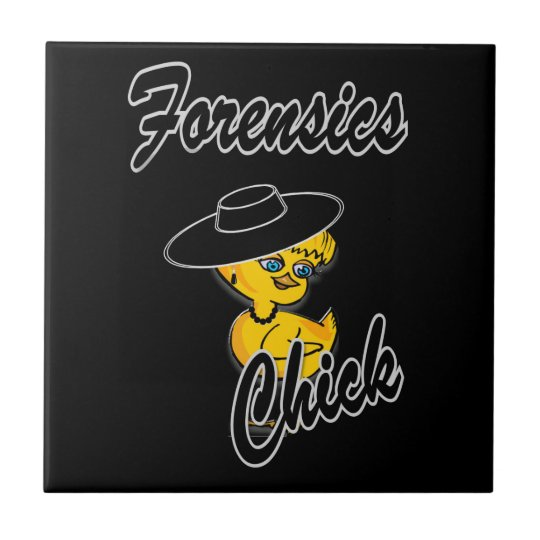 Forensics Chick #4 Small Square Tile
