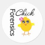 Forensics Chick Sticker