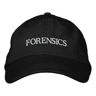 FORENSICS EMBROIDERED BASEBALL CAP