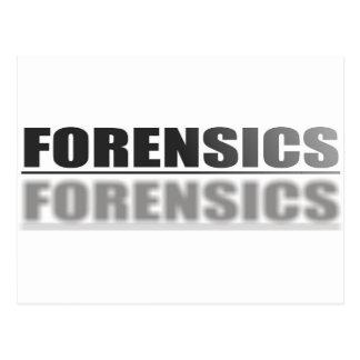 FORENSICS POSTCARD