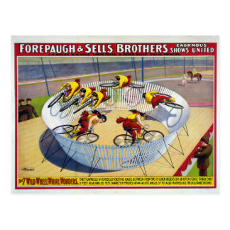 Forepaugh and Sells Vintage Circus Poster Postcard