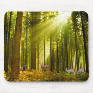 Forest and Deer image for  Mouse-pad Mouse Mat