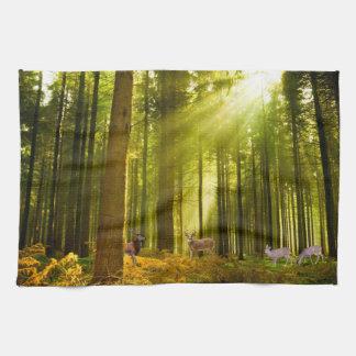 Forest and Deer image for  Tea-Towel Tea Towel