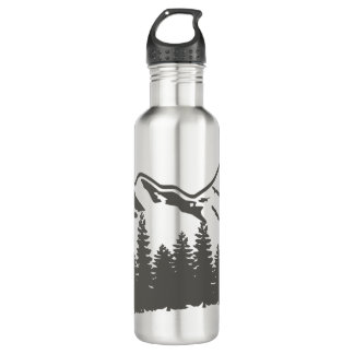 Forest and Mountains Water Bottle