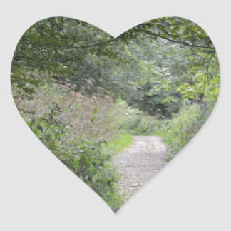 Forest and the foot path heart sticker